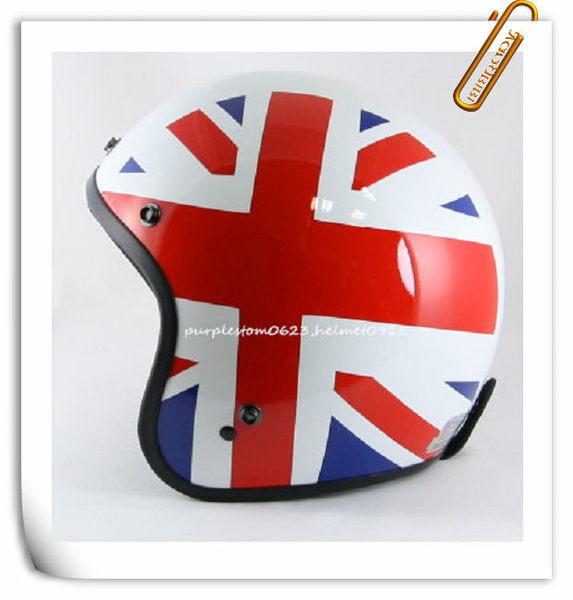 snd☆正品台湾thh头盔英国国旗哈雷半盔内衬可拆洗送帽沿包邮