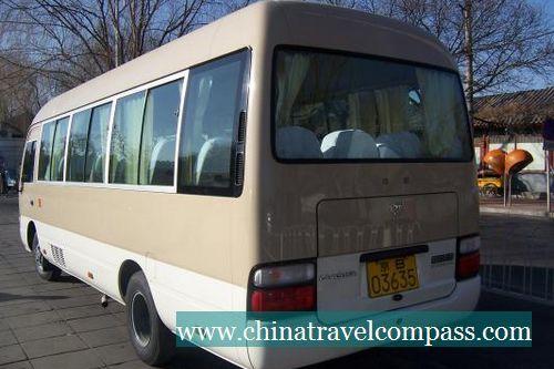 北京旅游租车 商务租车 22座丰田考斯特 八达岭长城十三陵租车